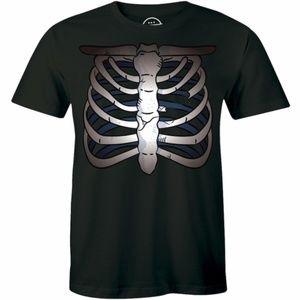 Broken Rib Cage Chest Bone Skeleton T-shirt Tee